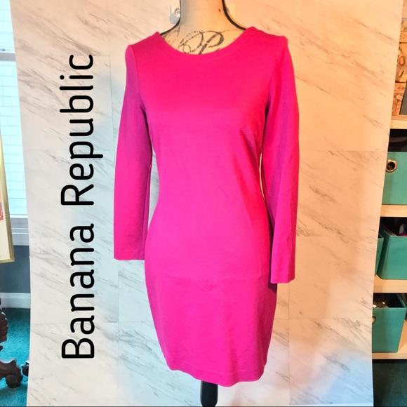 Banana Republic Dresses & Skirts - Banana Republic Ponte Deep V-Back Bodycon Dress